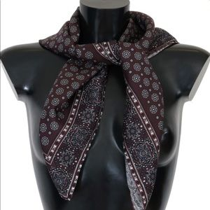 Dolce and Gabbana Bordeaux Silk Scarf